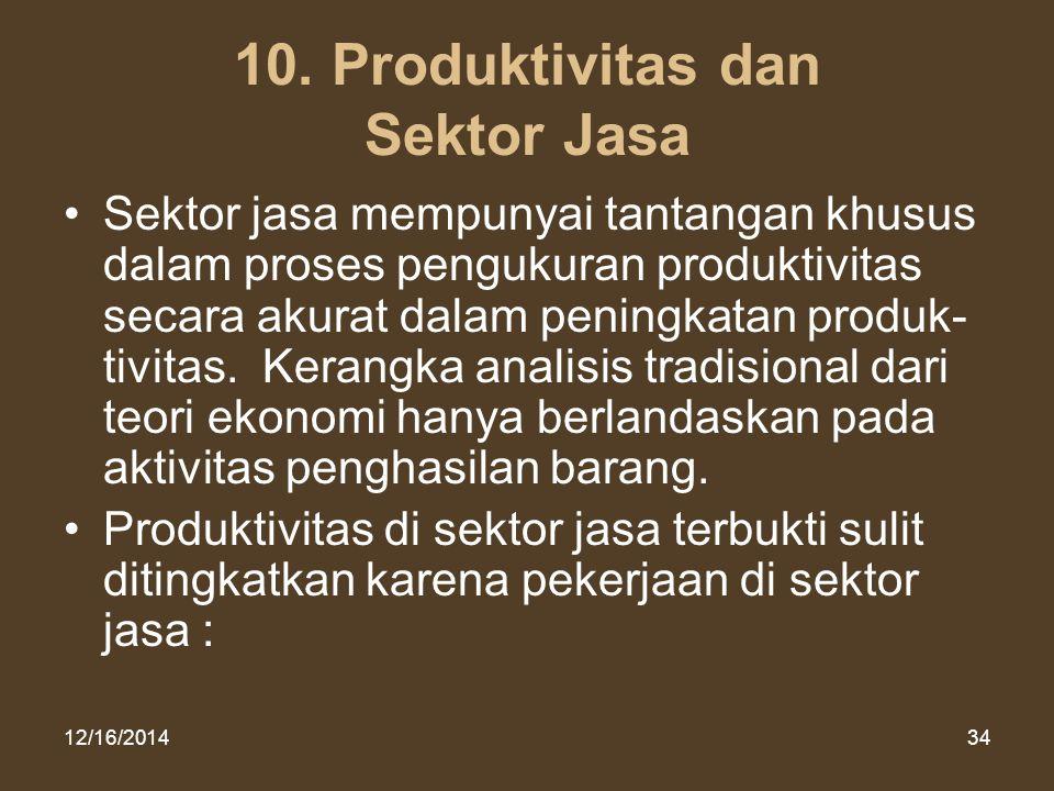 10. Produktivitas dan Sektor Jasa
