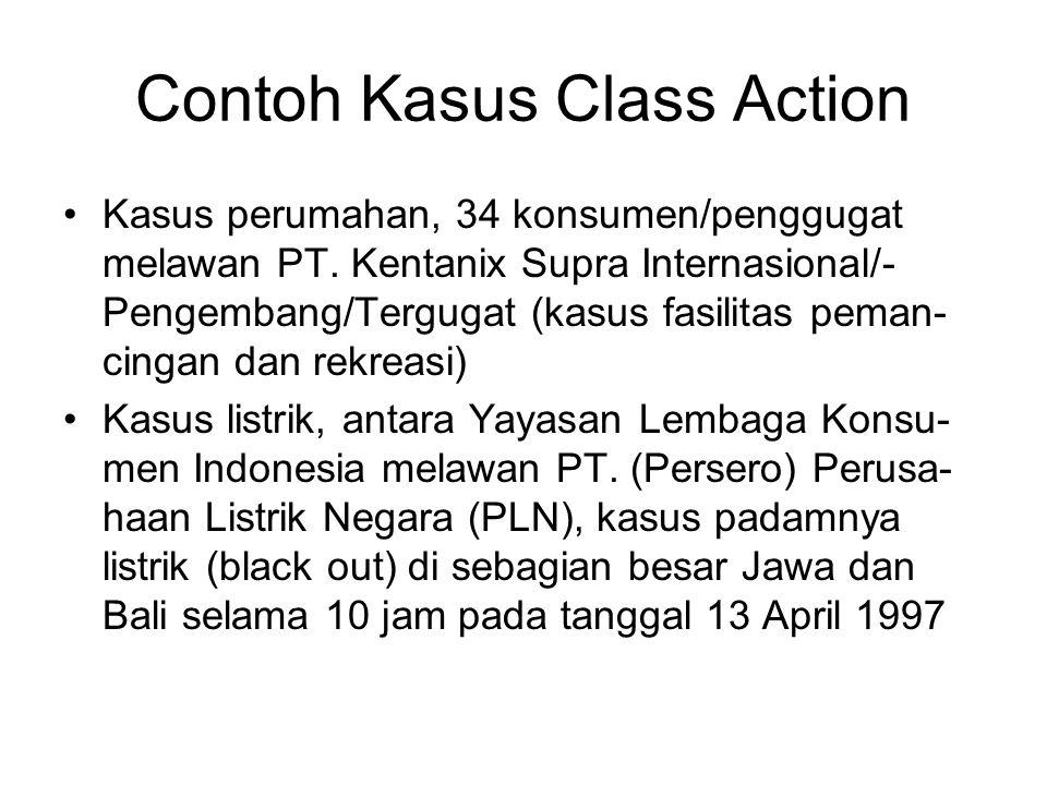 Contoh Kasus Class Action