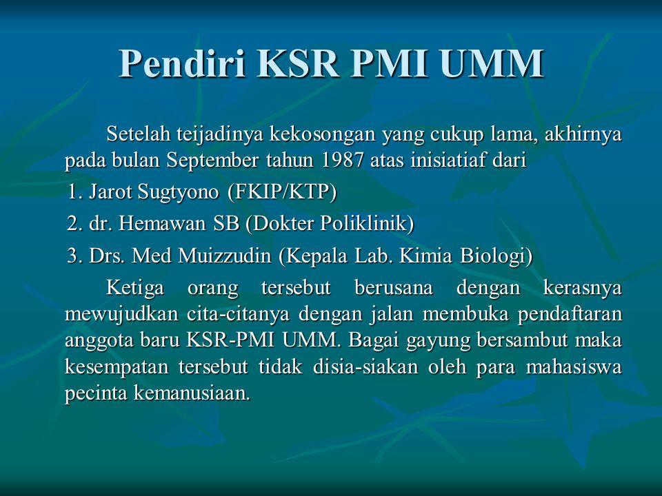Pendiri KSR PMI UMM