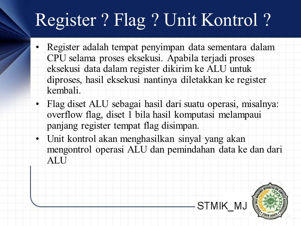 Register Flag Unit Kontrol