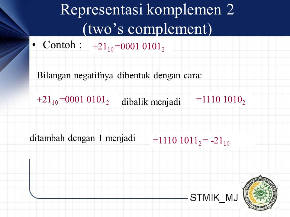 Representasi komplemen 2 (two's complement)