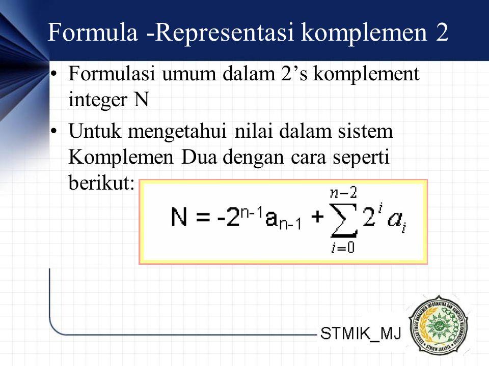 Formula -Representasi komplemen 2