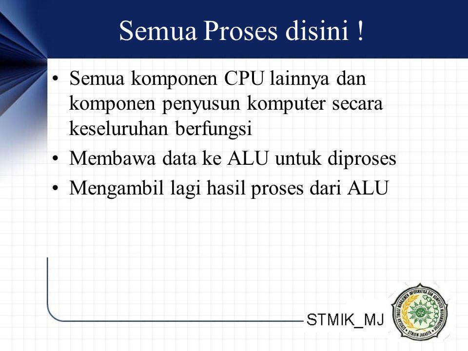 Semua Proses disini ! Semua komponen CPU lainnya dan komponen penyusun komputer secara keseluruhan berfungsi.