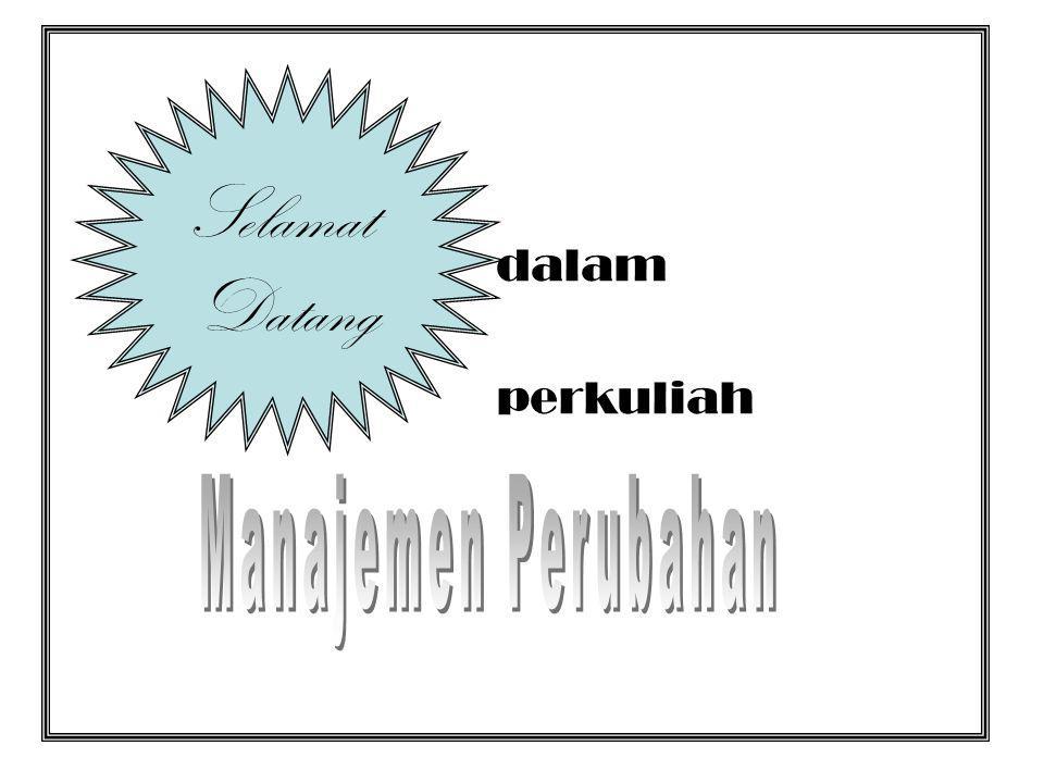 dalam perkuliah Selamat Datang Manajemen Perubahan
