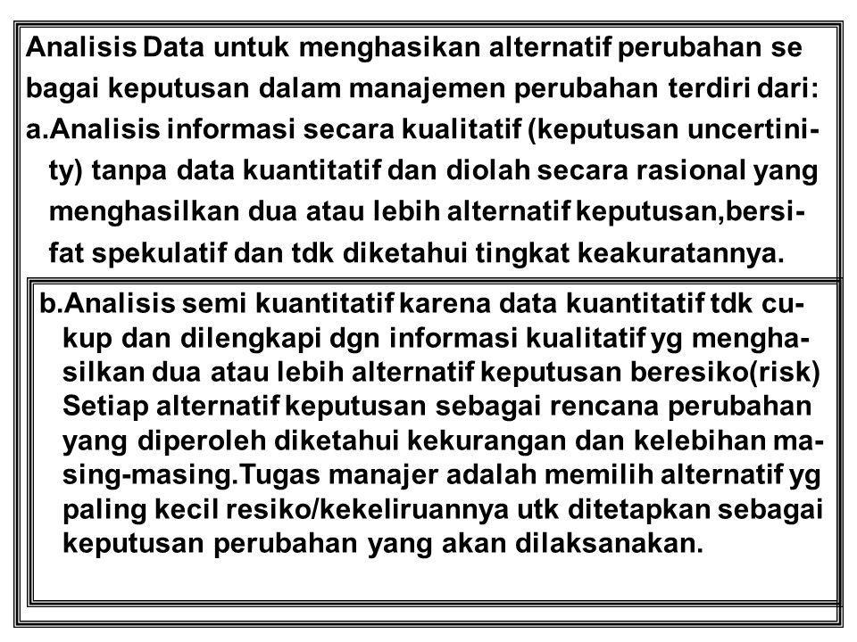 Analisis Data untuk menghasikan alternatif perubahan se