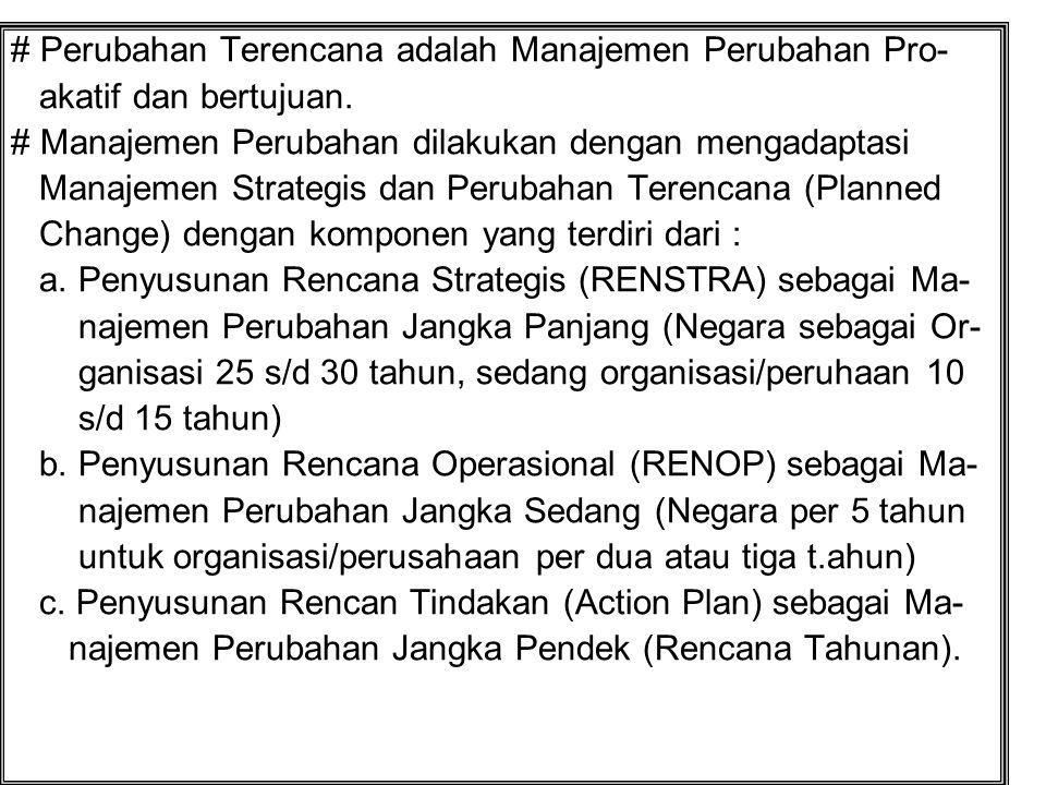 # Perubahan Terencana adalah Manajemen Perubahan Pro-
