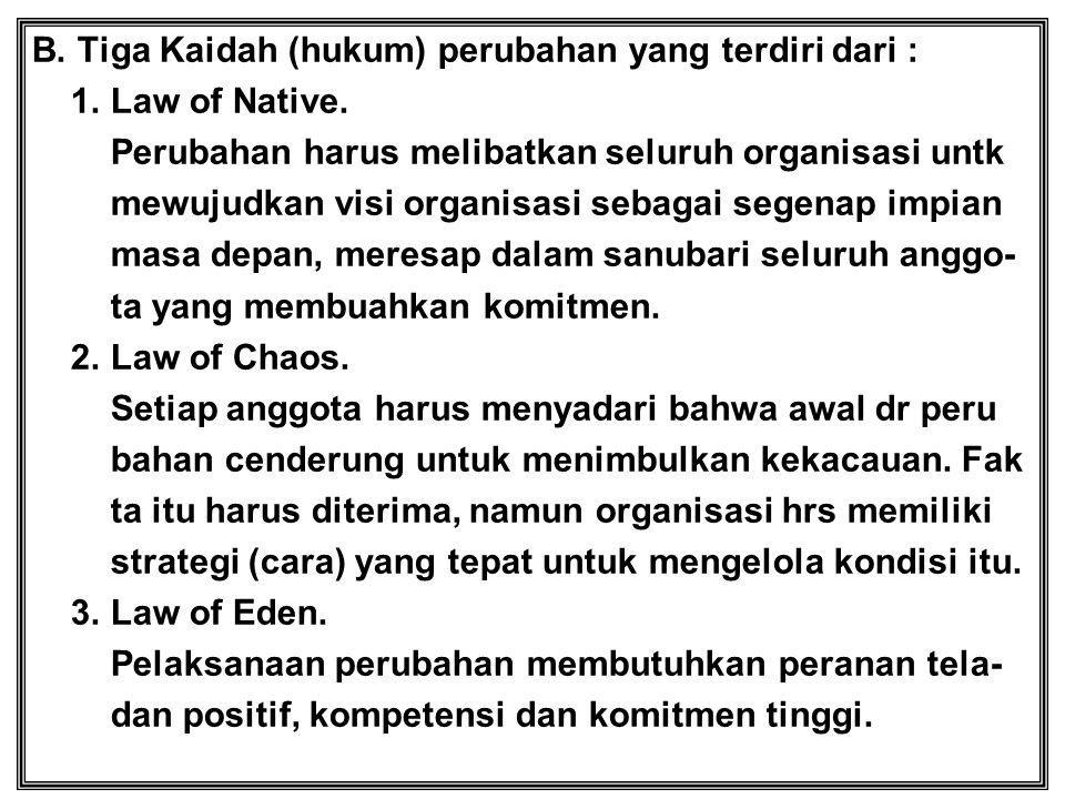 B. Tiga Kaidah (hukum) perubahan yang terdiri dari :