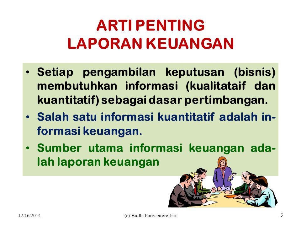 ARTI PENTING LAPORAN KEUANGAN