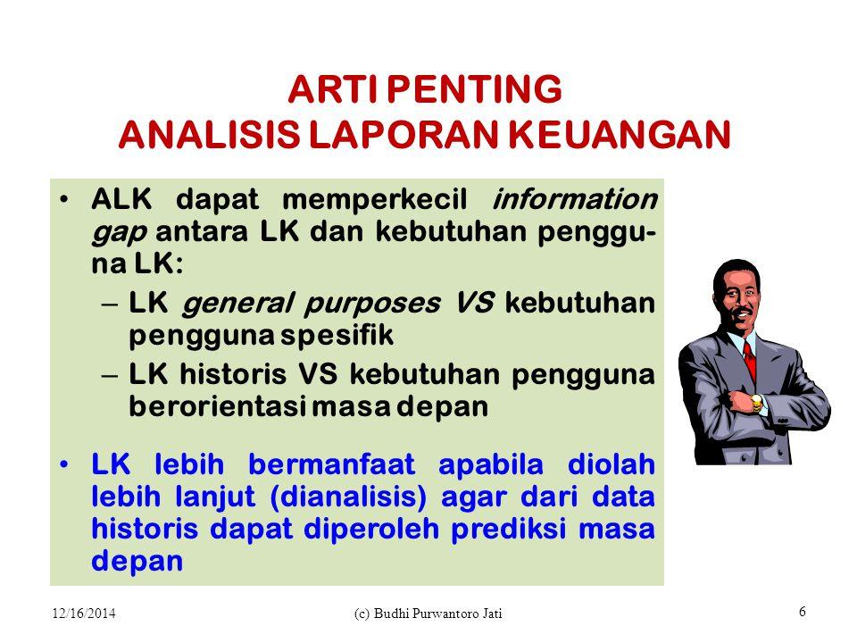 ARTI PENTING ANALISIS LAPORAN KEUANGAN