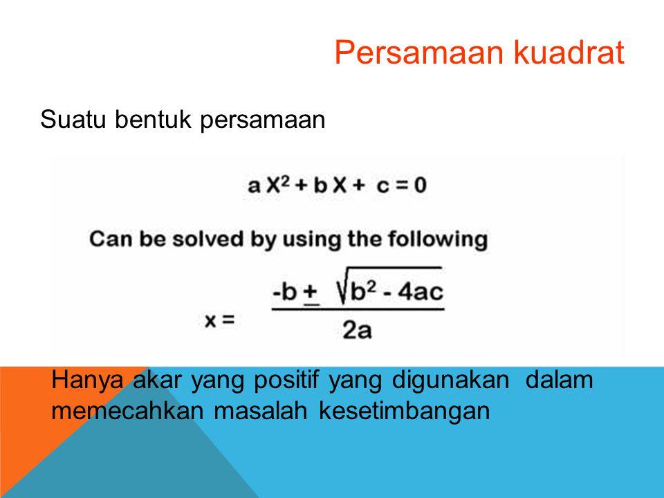 Persamaan kuadrat Suatu bentuk persamaan