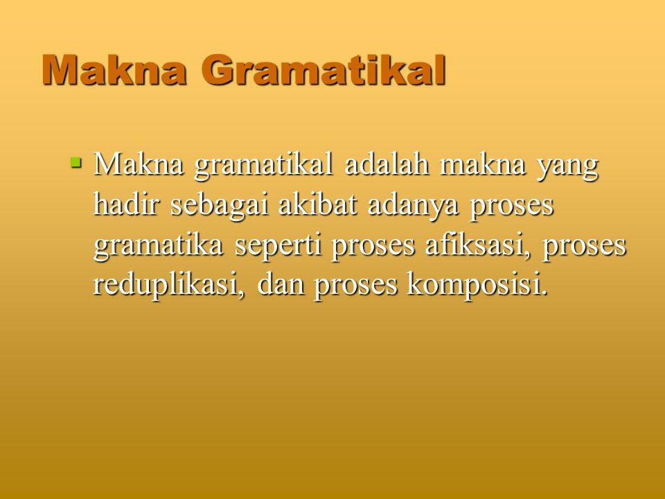Makna Gramatikal