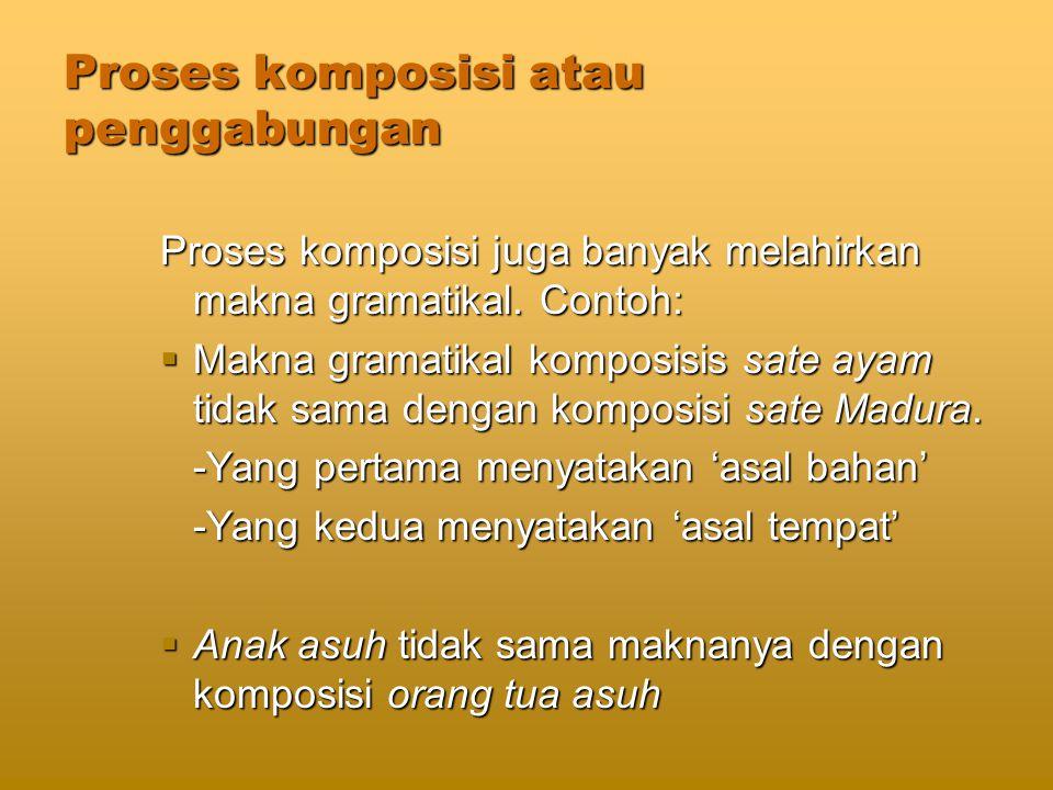 Proses komposisi atau penggabungan