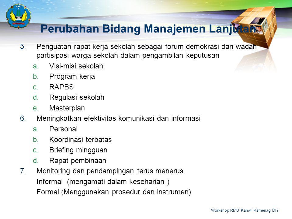 Perubahan Bidang Manajemen Lanjutan