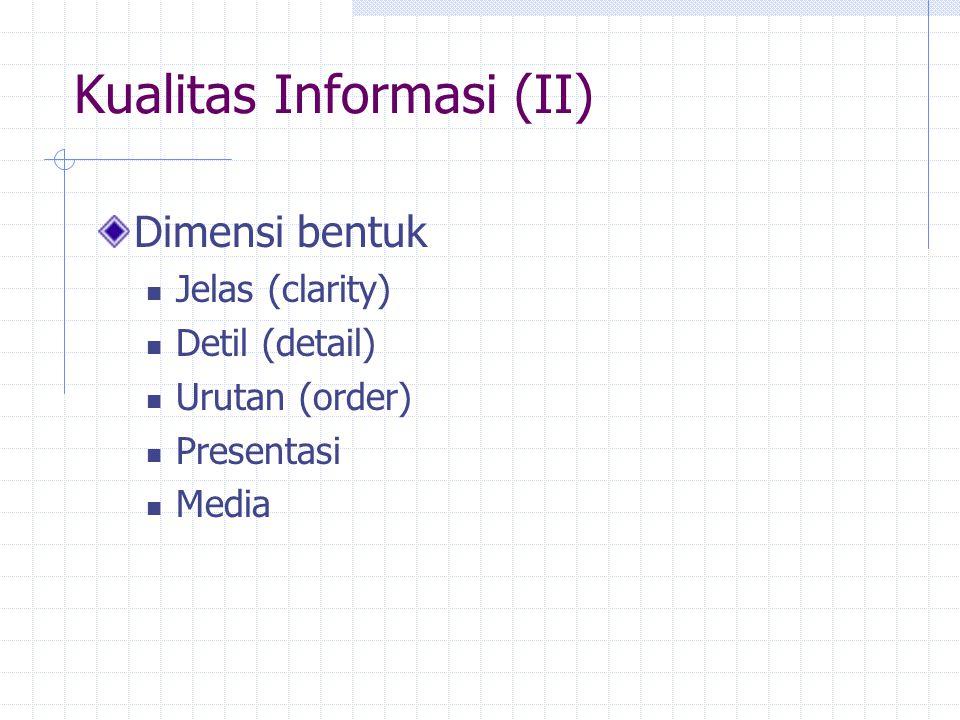 Kualitas Informasi (II)