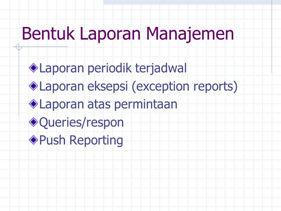 Bentuk Laporan Manajemen