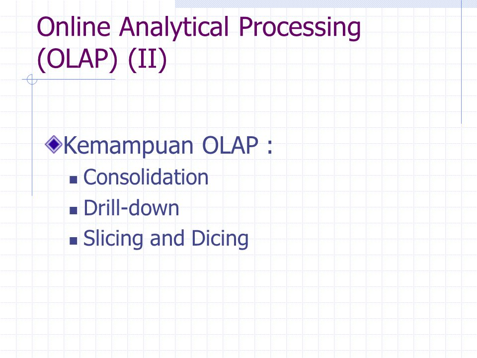 Online Analytical Processing (OLAP) (II)