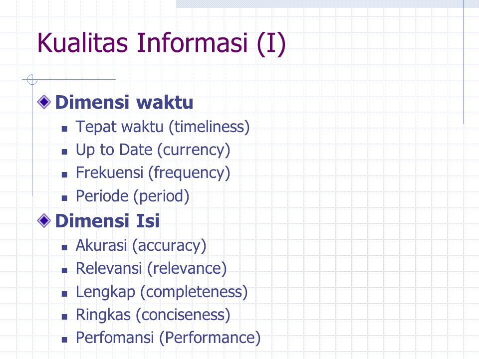 Kualitas Informasi (I)