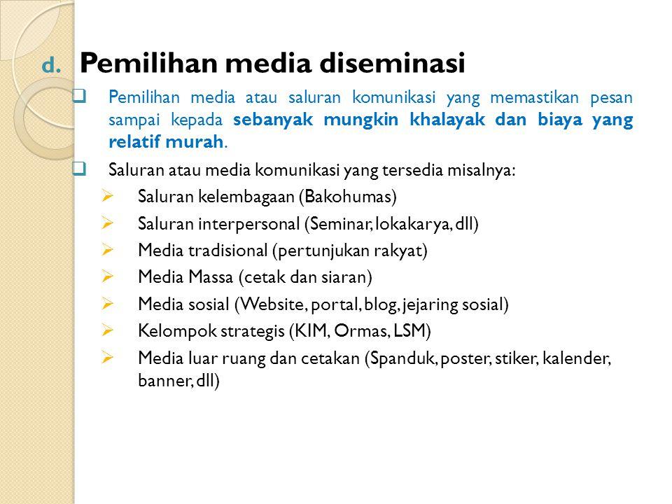 Pemilihan media diseminasi