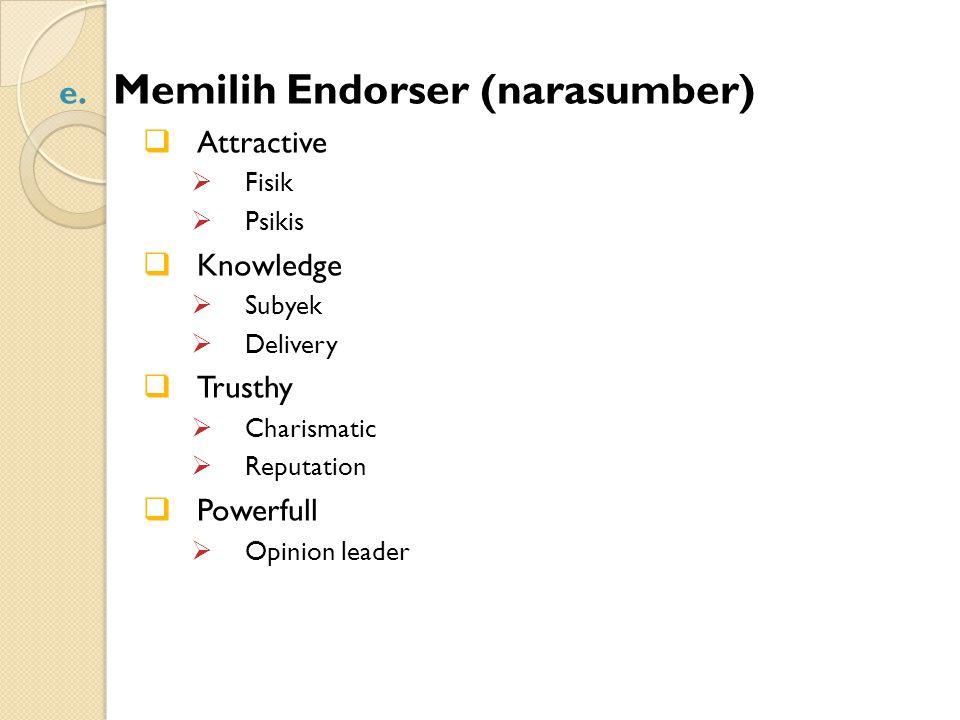 Memilih Endorser (narasumber)