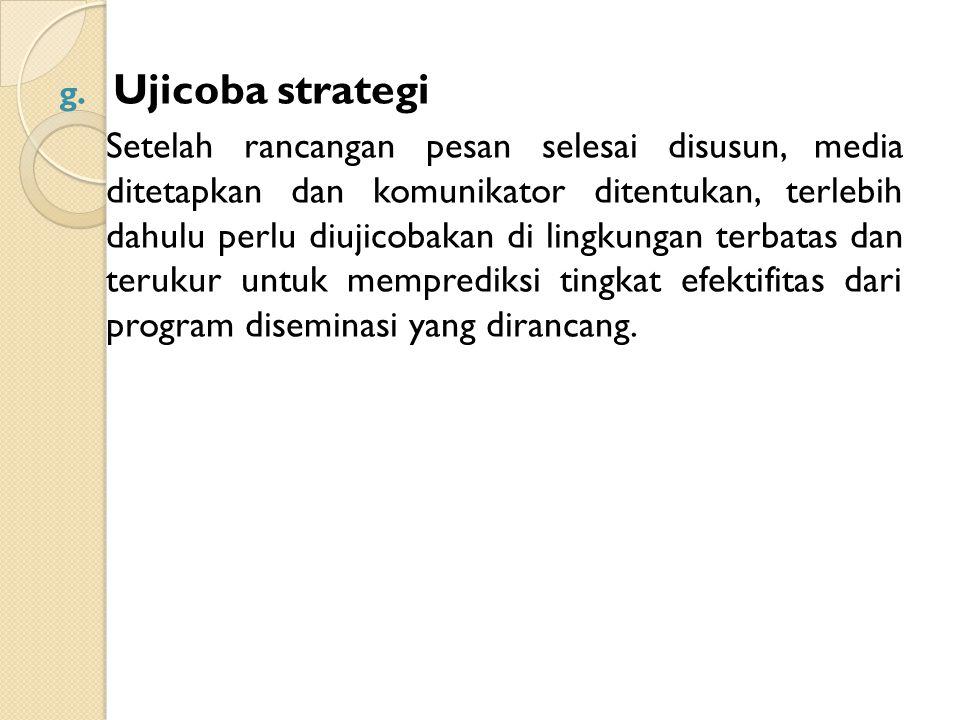 Ujicoba strategi