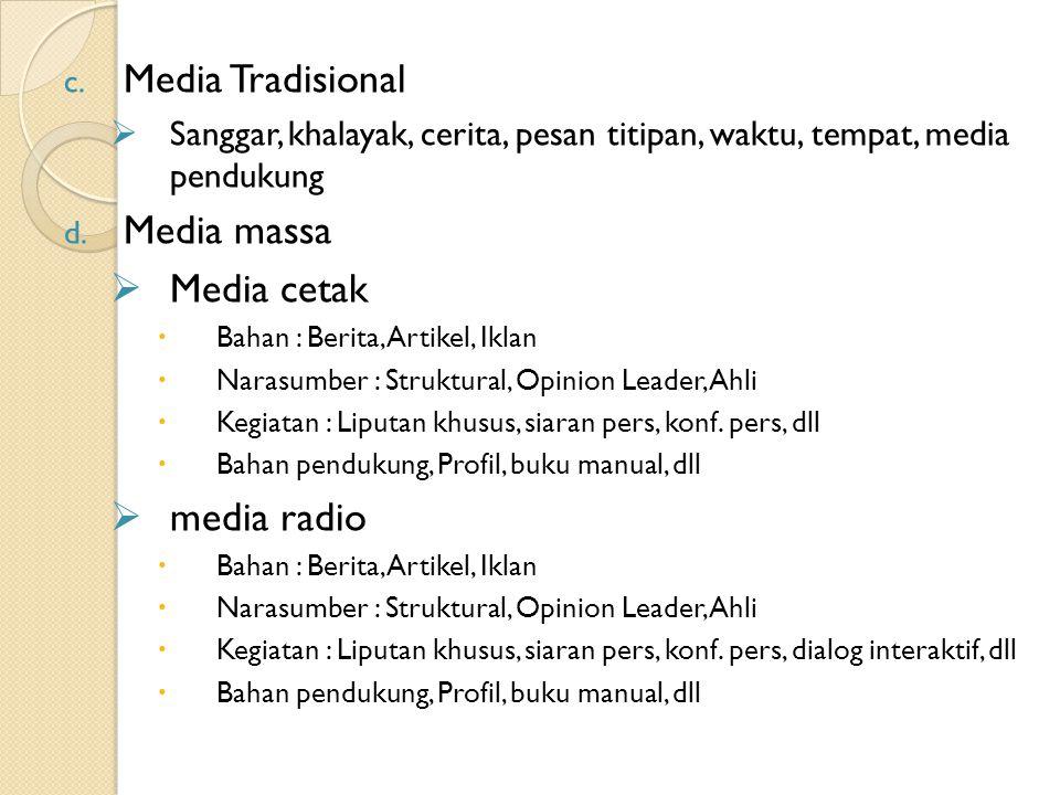 Media Tradisional Media massa Media cetak media radio