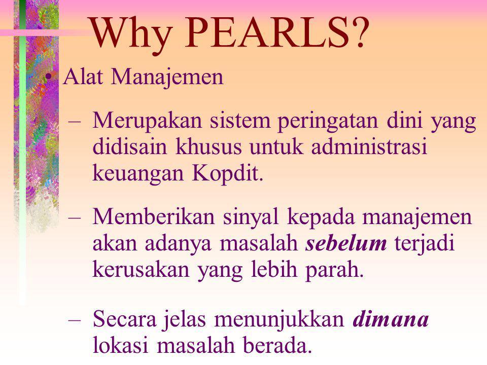Why PEARLS Alat Manajemen