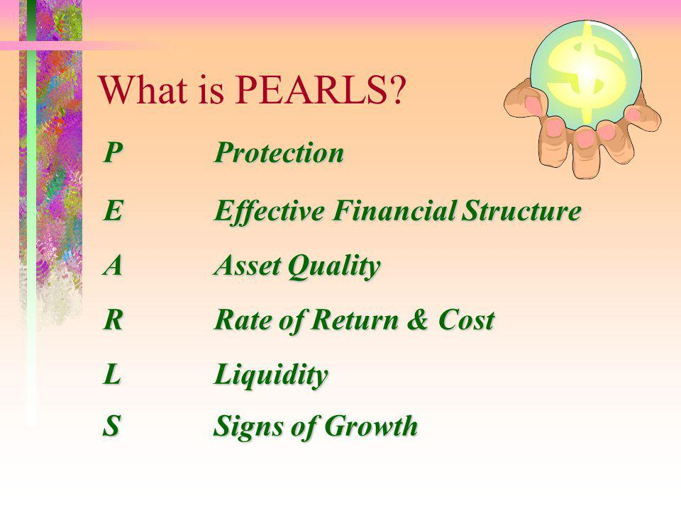 What is PEARLS P Protection E Effective Financial Structure