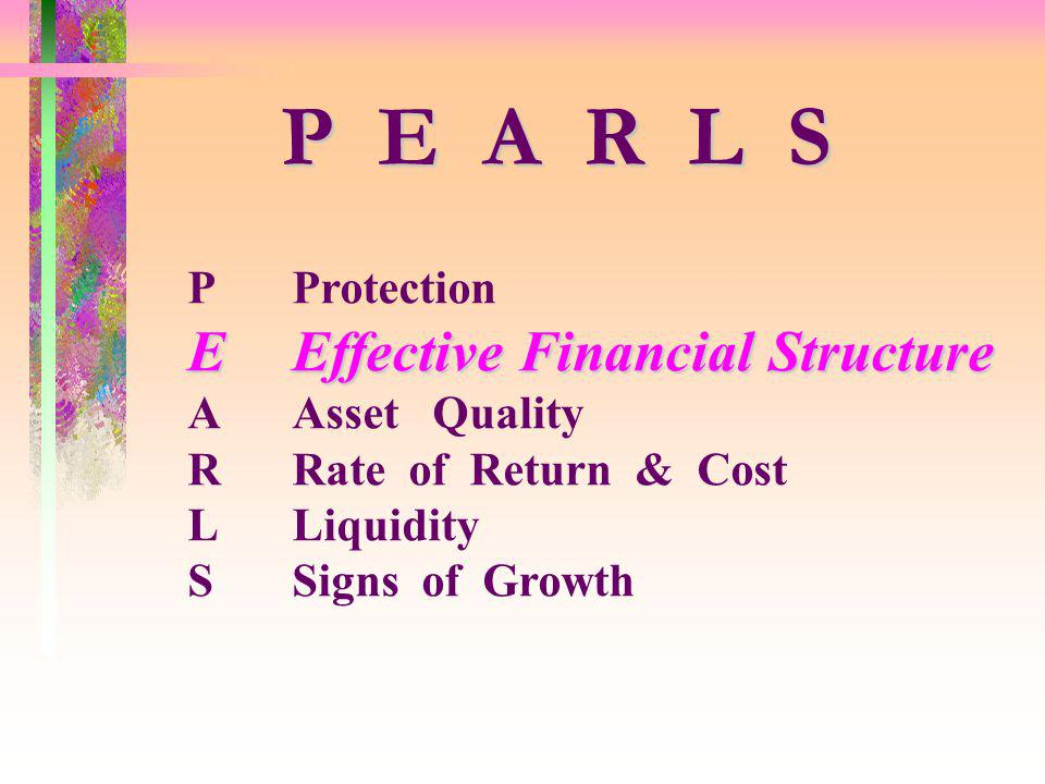 P E A R L S E Effective Financial Structure P Protection