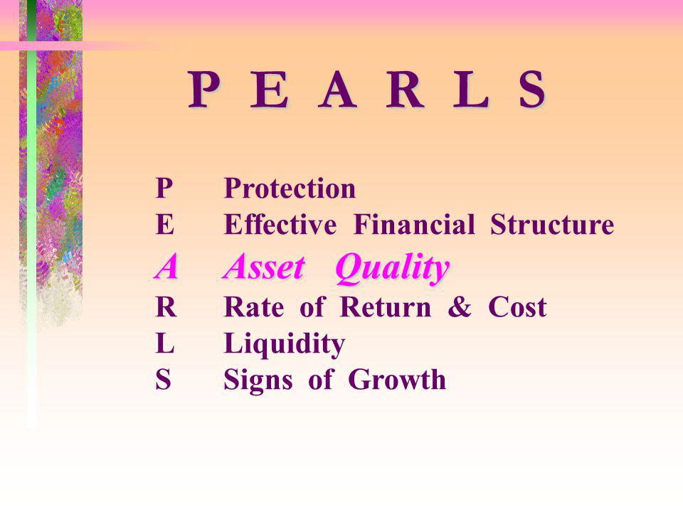 P E A R L S A Asset Quality P Protection