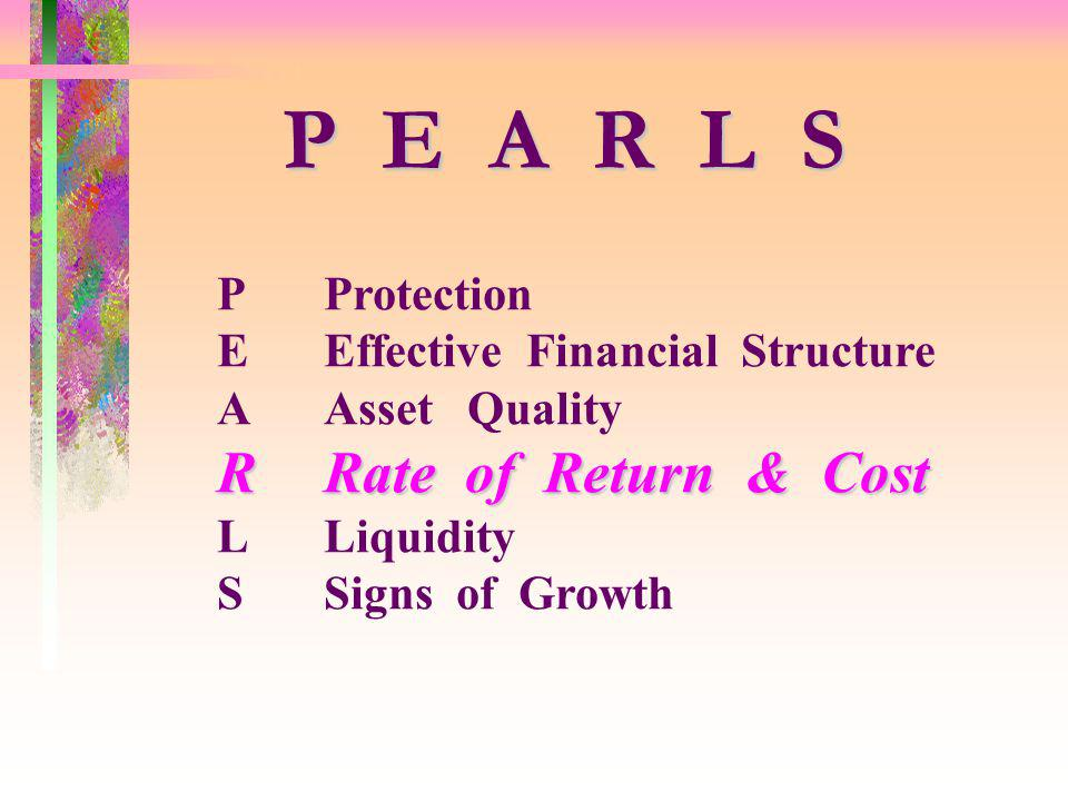 P E A R L S R Rate of Return & Cost P Protection