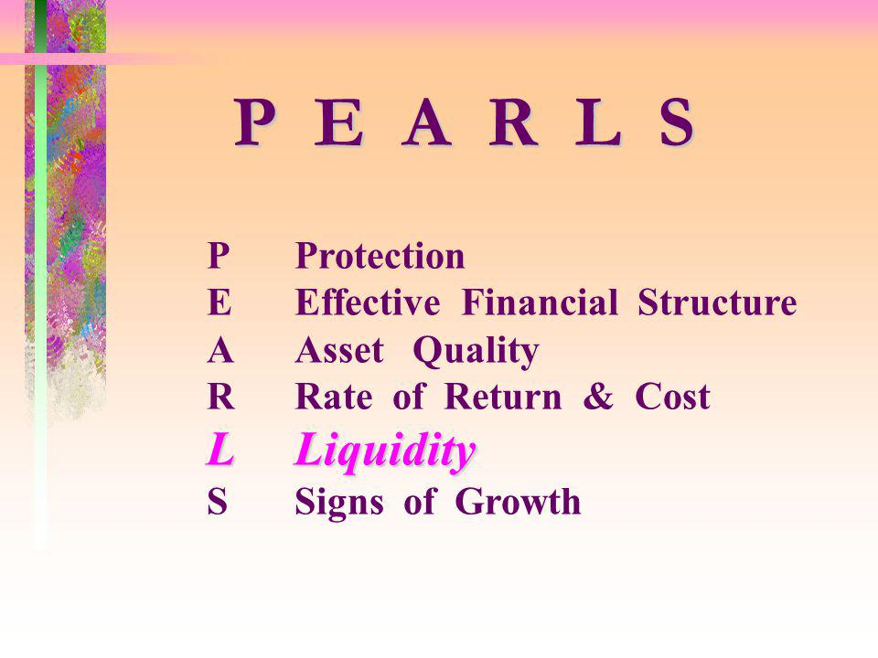 P E A R L S L Liquidity P Protection E Effective Financial Structure