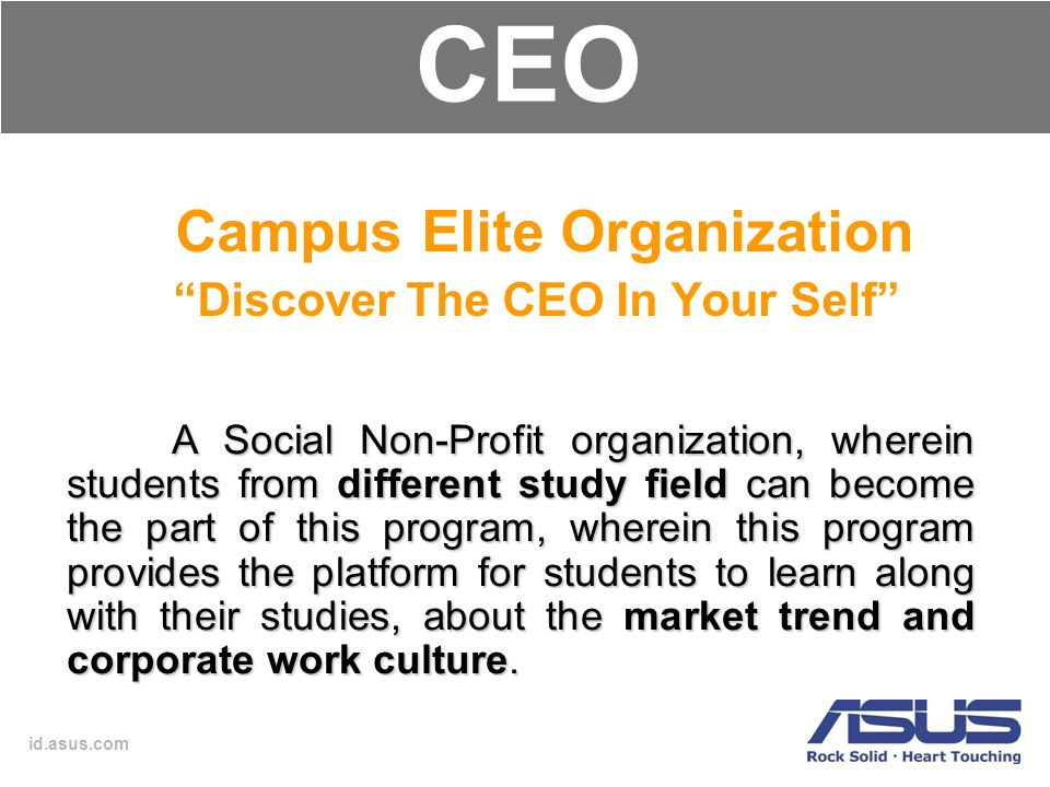 Campus Elite Organization Discover The CEO In Your Self