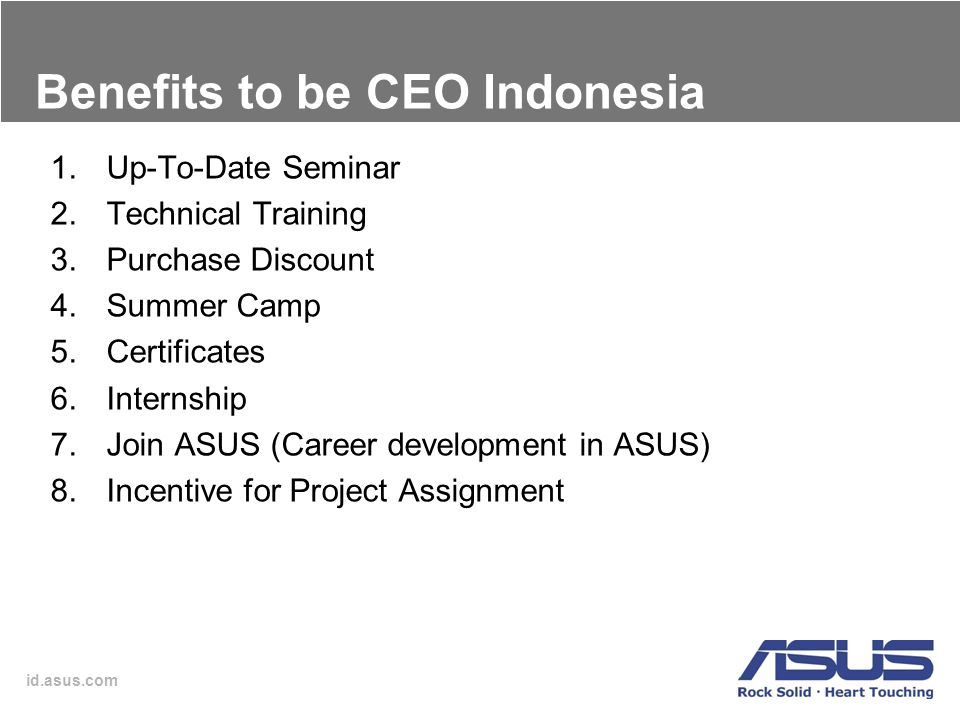 Benefits to be CEO Indonesia