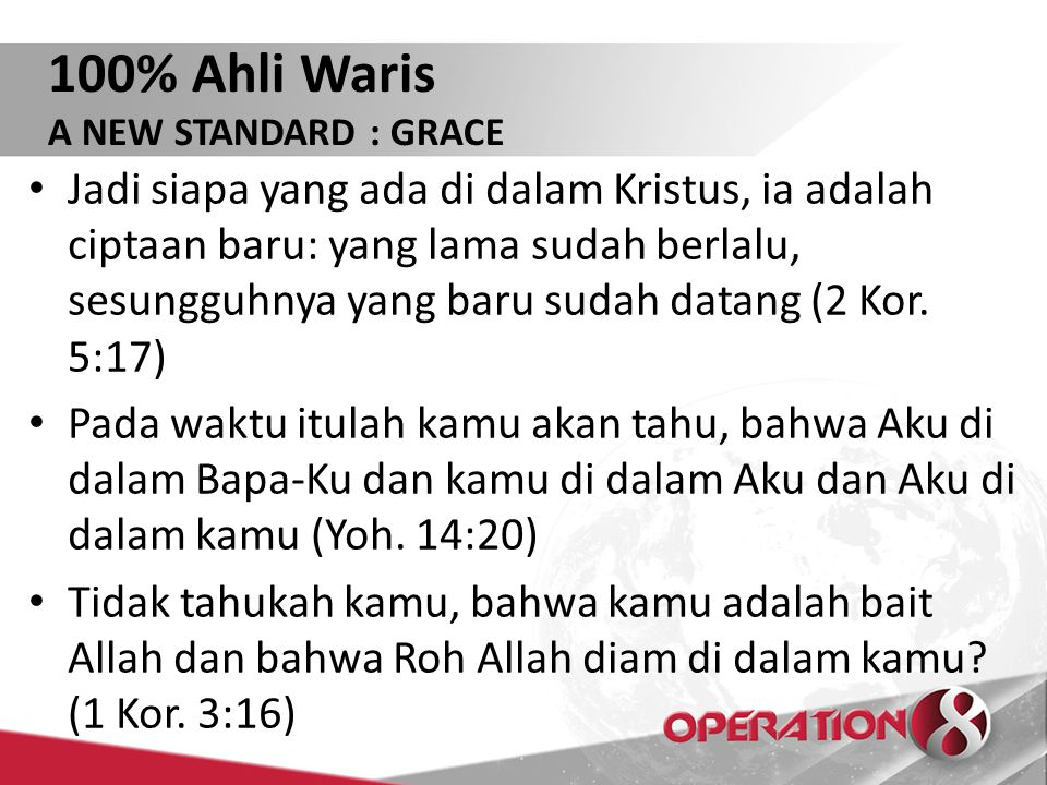 100% Ahli Waris A NEW STANDARD : GRACE.
