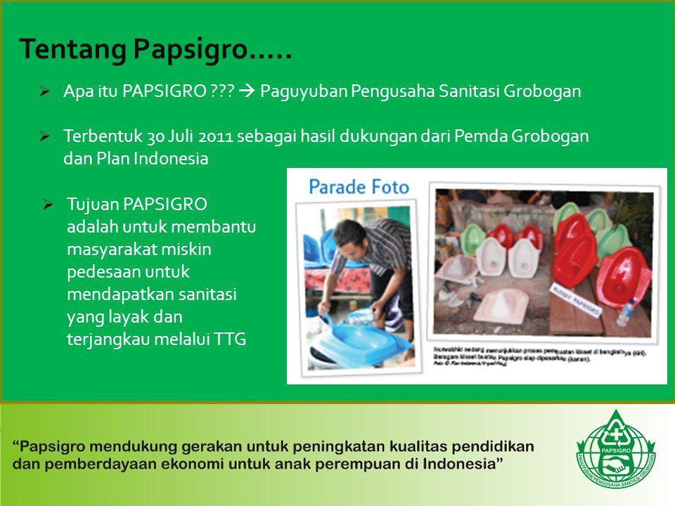 Apa itu PAPSIGRO  Paguyuban Pengusaha Sanitasi Grobogan