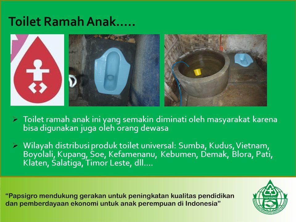 Toilet Ramah Anak….. Toilet ramah anak ini yang semakin diminati oleh masyarakat karena bisa digunakan juga oleh orang dewasa.