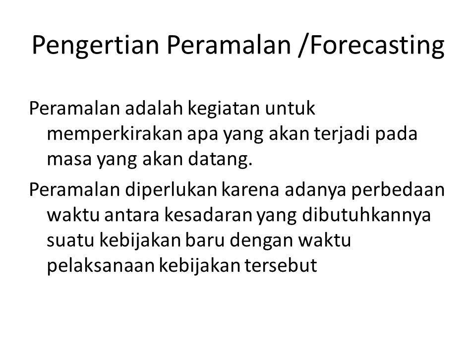 Pengertian Peramalan /Forecasting