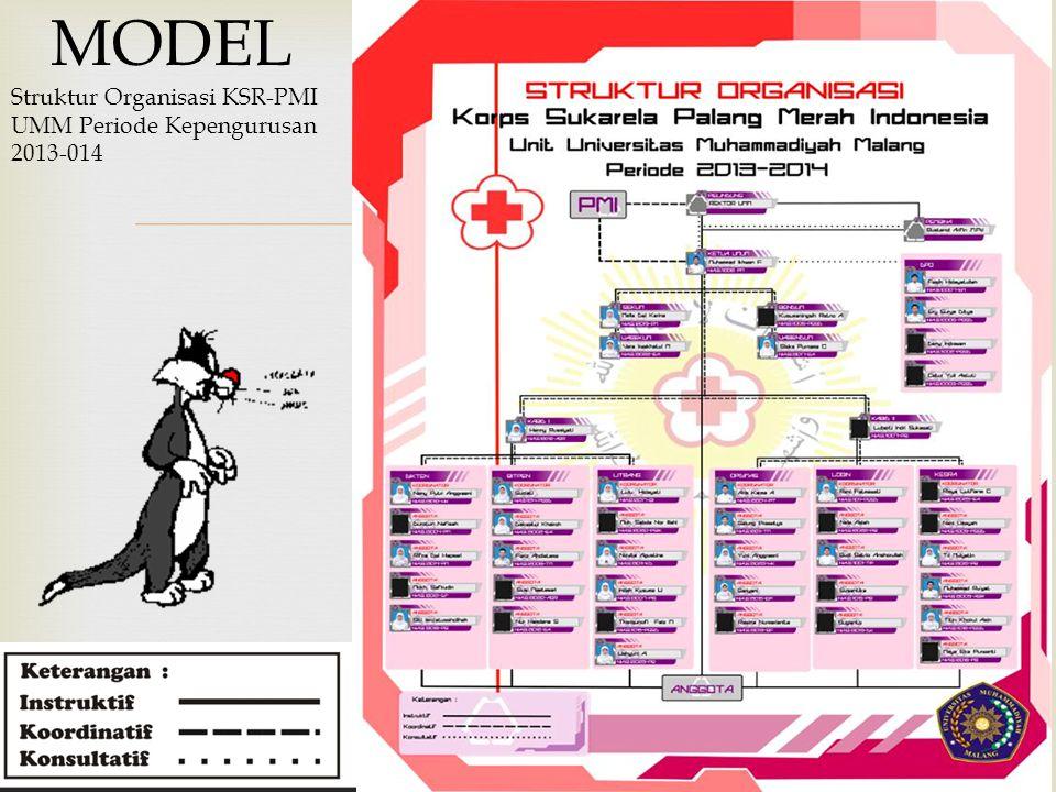 MODEL Struktur Organisasi KSR-PMI UMM Periode Kepengurusan 2013-014