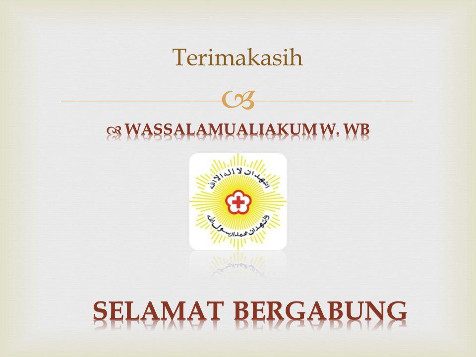 Terimakasih Wassalamualiakum W. Wb Selamat Bergabung