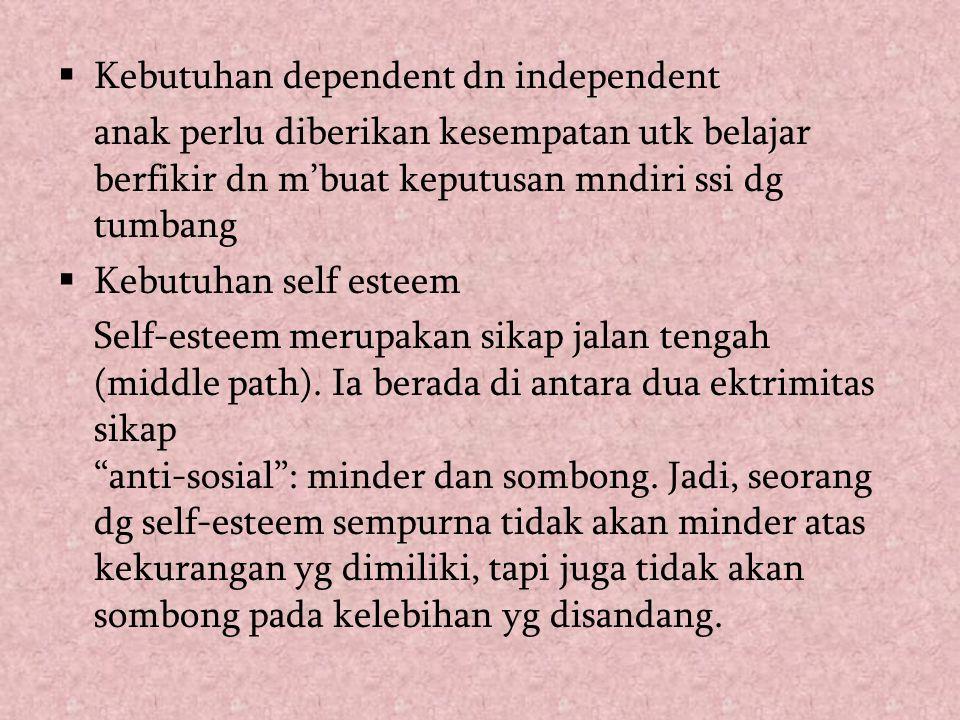 Kebutuhan dependent dn independent