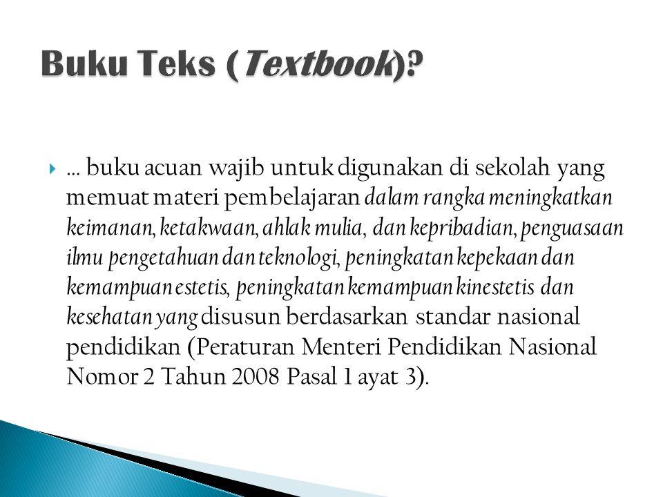 Buku Teks (Textbook)