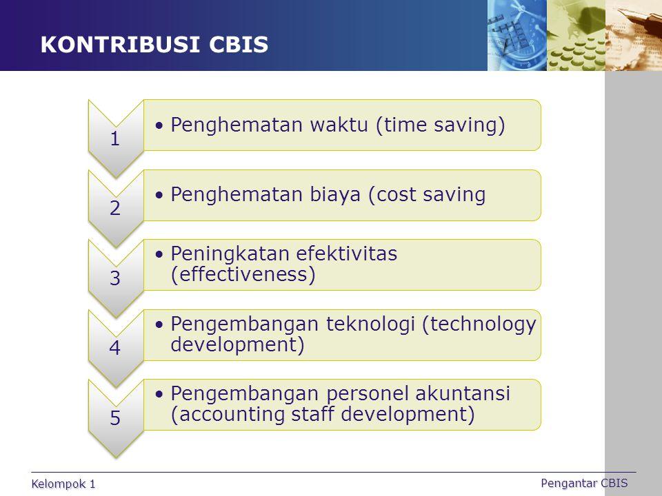 KONTRIBUSI CBIS Kelompok 1 Pengantar CBIS 1