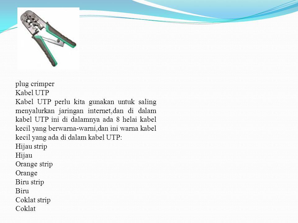 plug crimper Kabel UTP.