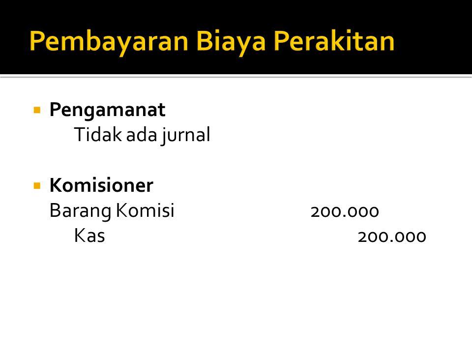 Pembayaran Biaya Perakitan