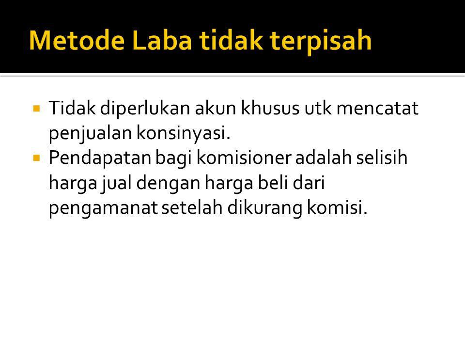 Metode Laba tidak terpisah