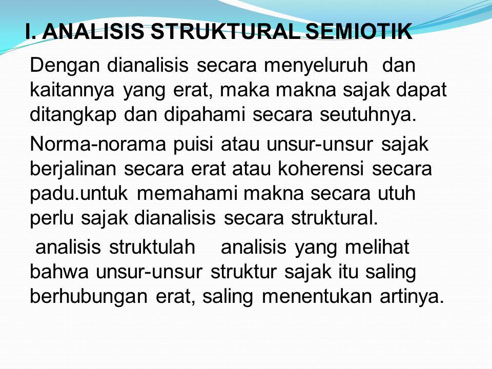 I. ANALISIS STRUKTURAL SEMIOTIK