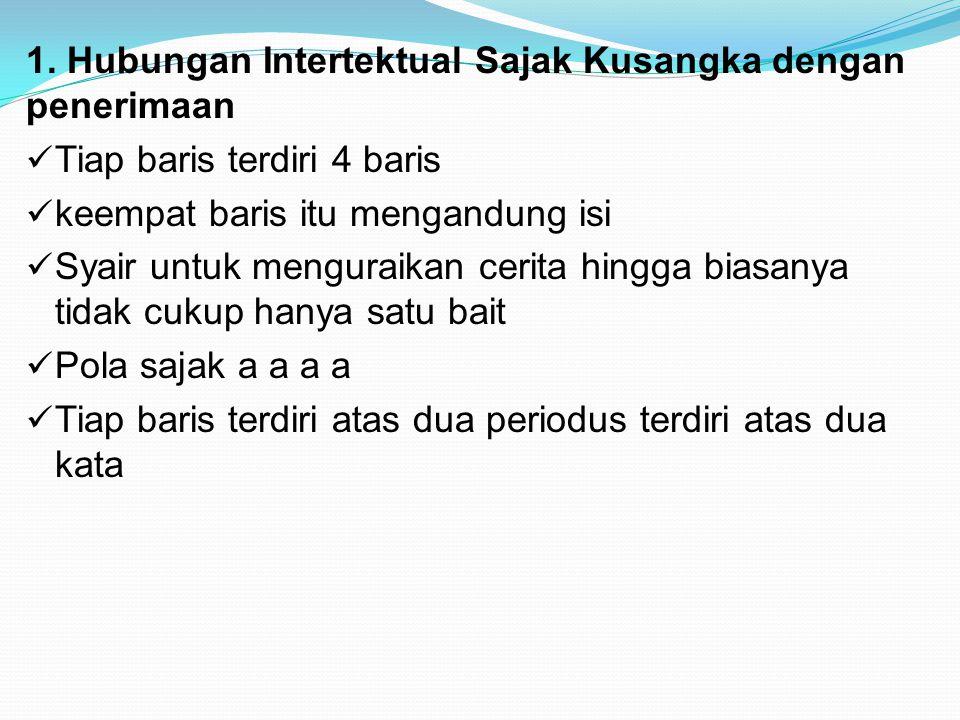 1. Hubungan Intertektual Sajak Kusangka dengan penerimaan