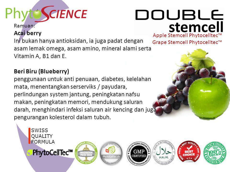 Ramuan: Acai berry. Ini bukan hanya antioksidan, ia juga padat dengan asam lemak omega, asam amino, mineral alami serta Vitamin A, B1 dan E.
