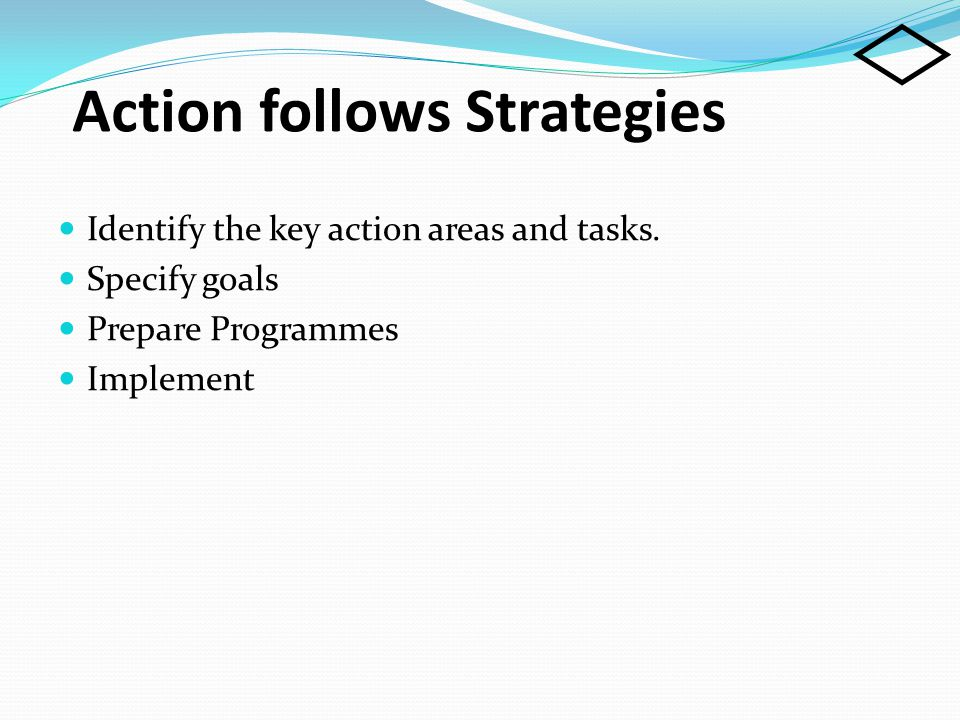 Action follows Strategies