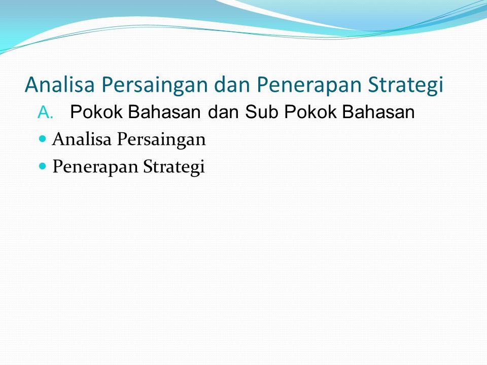 Analisa Persaingan dan Penerapan Strategi